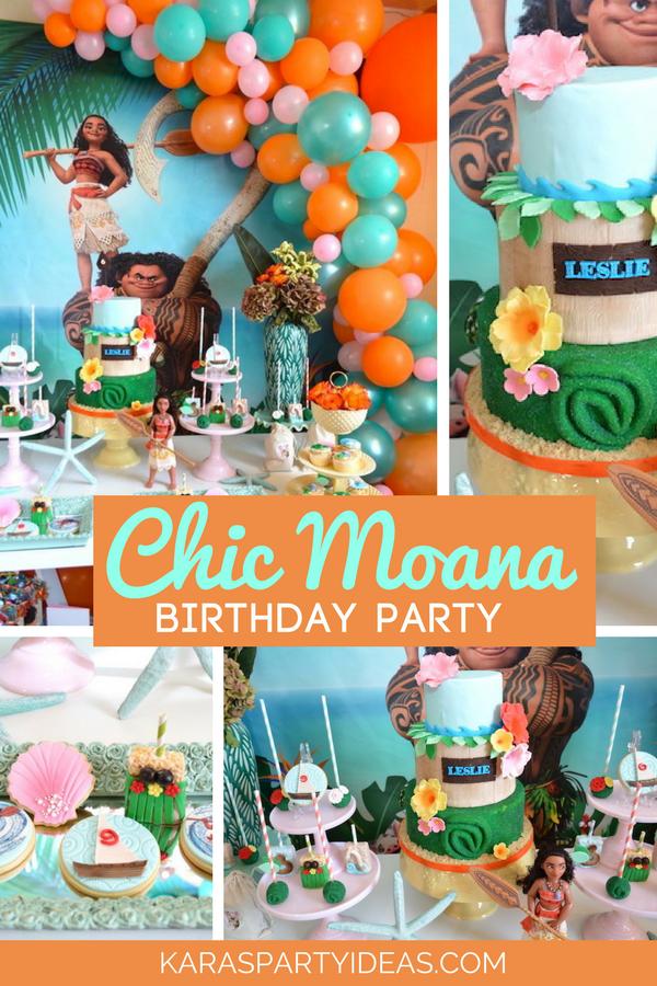 Chic Moana Birthday Party via KarasPartyIdeas - KarasPartyIdeas.com