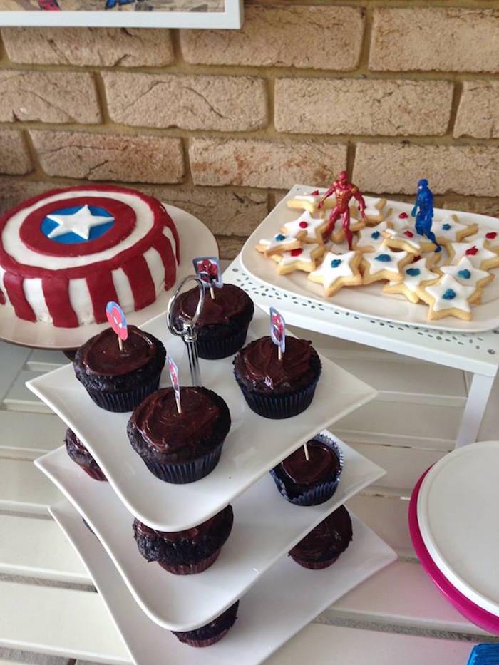 Superhero Sweets from a Classic Superhero Birthday Party on Kara's Party Ideas | KarasPartyIdeas.com (15)