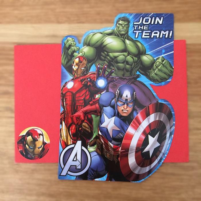 Superhero Party Invite from a Classic Superhero Birthday Party on Kara's Party Ideas | KarasPartyIdeas.com (8)