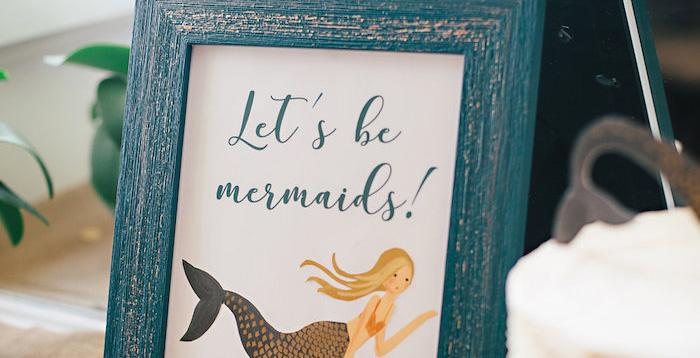 Coastal Mermaid Birthday Party on Kara's Party Ideas | KarasPartyIdeas.com (1)