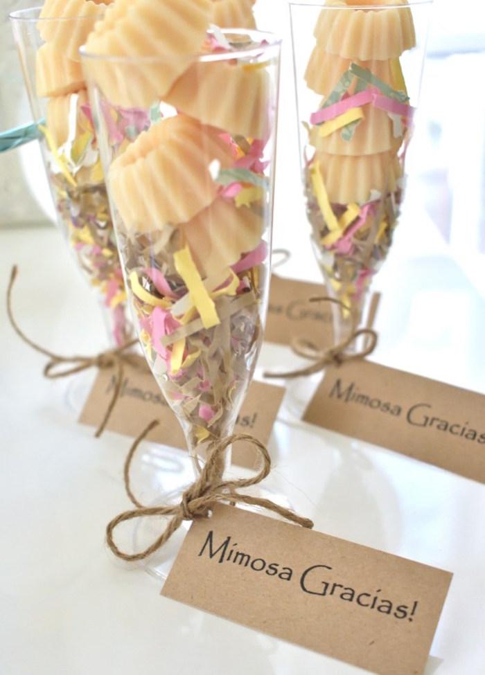 Mimosa Bar Soap Favors from a DIY Springtime Mimosa Bar on Kara's Party Ideas | KarasPartyIdeas.com (8)