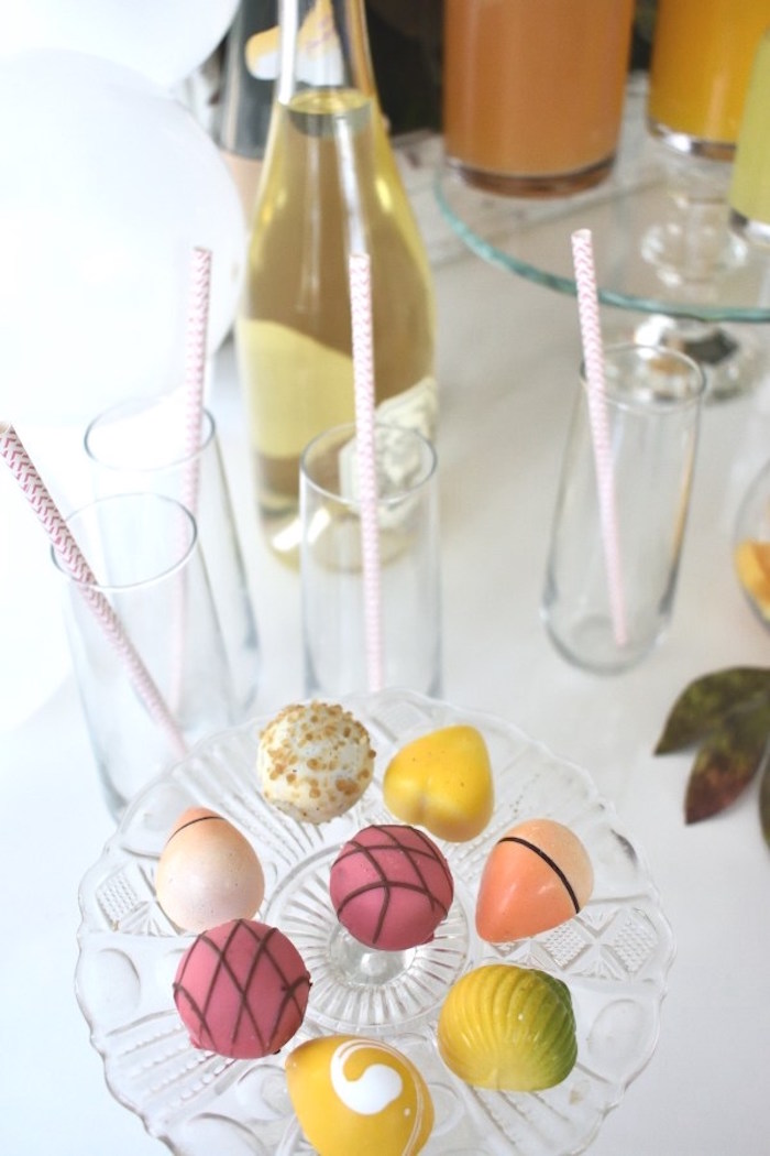 Sweets from a DIY Springtime Mimosa Bar on Kara's Party Ideas | KarasPartyIdeas.com (6)