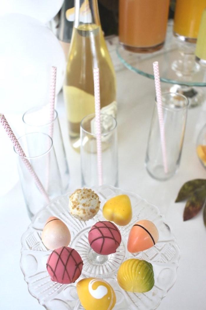 Sweets from a DIY Springtime Mimosa Bar on Kara's Party Ideas | KarasPartyIdeas.com (6)