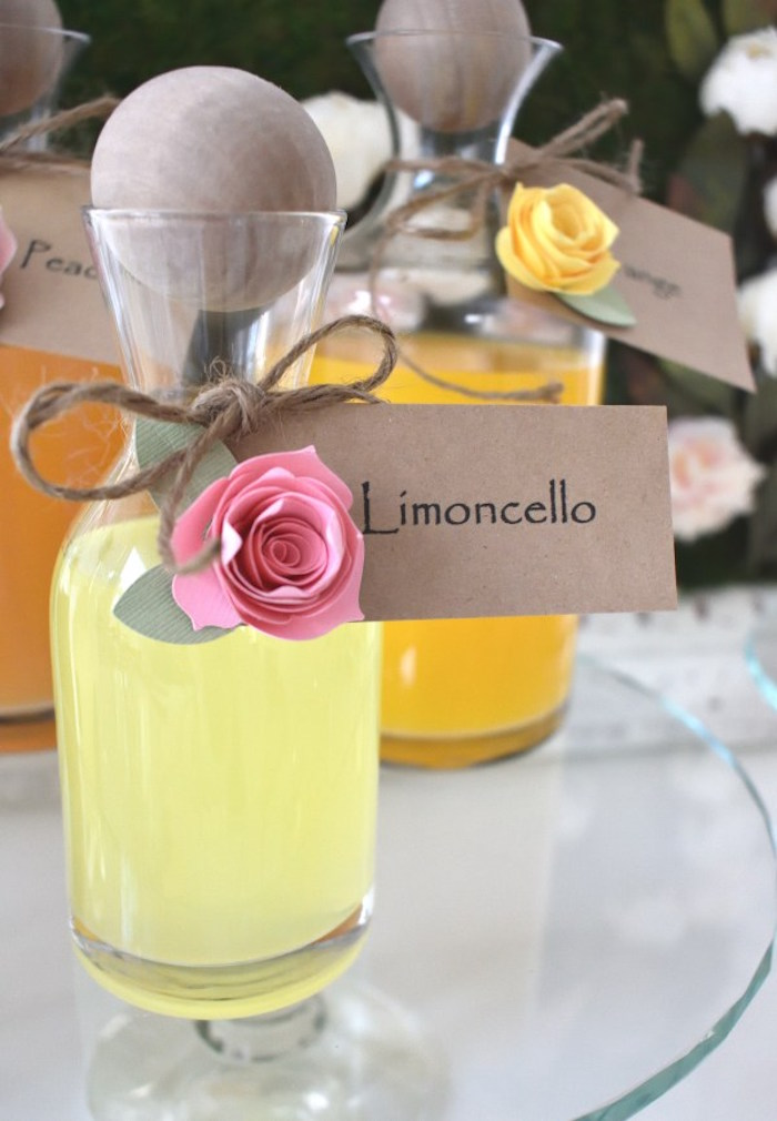 Limoncello from a DIY Springtime Mimosa Bar on Kara's Party Ideas | KarasPartyIdeas.com (3)