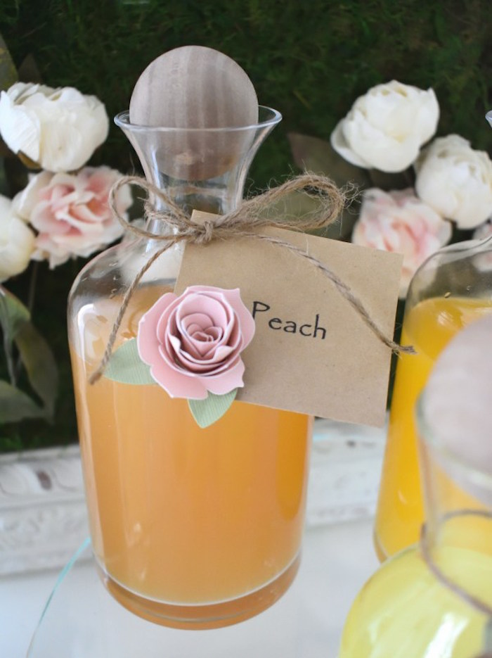 Beverage Bottle from a DIY Springtime Mimosa Bar on Kara's Party Ideas | KarasPartyIdeas.com (18)