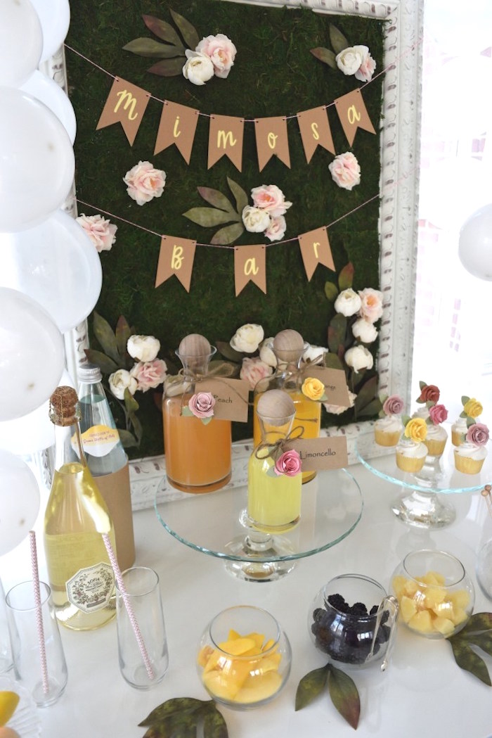 Party Table from a DIY Springtime Mimosa Bar on Kara's Party Ideas | KarasPartyIdeas.com (13)