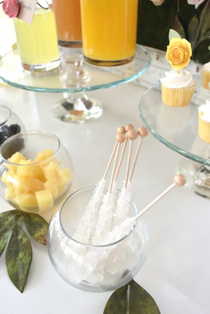Rock Candy Stir Sticks from a DIY Springtime Mimosa Bar on Kara's Party Ideas | KarasPartyIdeas.com (12)