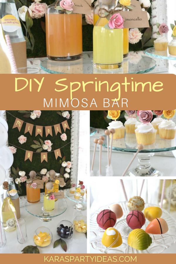 DIY Springtime Mimosa Bar via KarasPartyIdeas - KarasPartyIdeas.com
