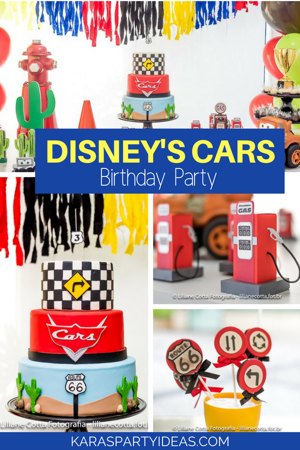 Disney's Cars Birthday Party via KarasPartyIdeas - KarasPartyIdeas.com