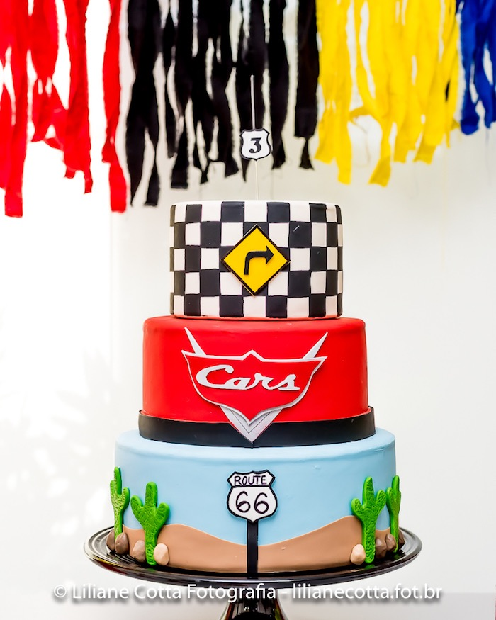 Cars Cake from a Disney's Cars Birthday Party on Kara's Party Ideas | KarasPartyIdeas.com (18)