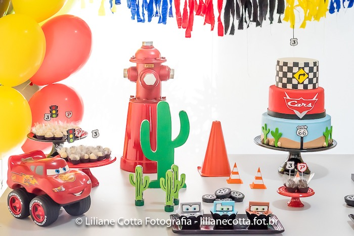 Car Themed Dessert Table from a Disney's Cars Birthday Party on Kara's Party Ideas | KarasPartyIdeas.com (17)
