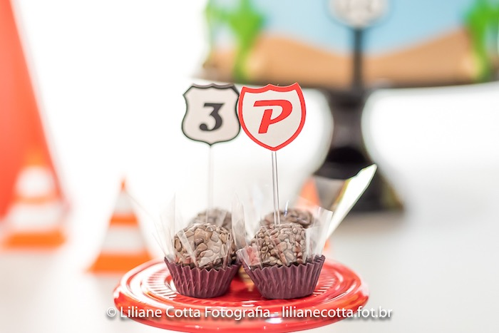 Road Sign Brigadeiros from a Disney's Cars Birthday Party on Kara's Party Ideas | KarasPartyIdeas.com (13)