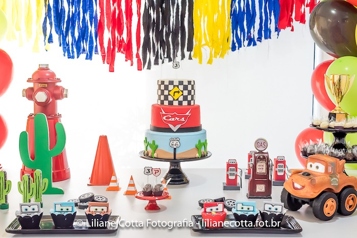 Cars Themed Dessert Table from a Disney's Cars Birthday Party on Kara's Party Ideas | KarasPartyIdeas.com (12)