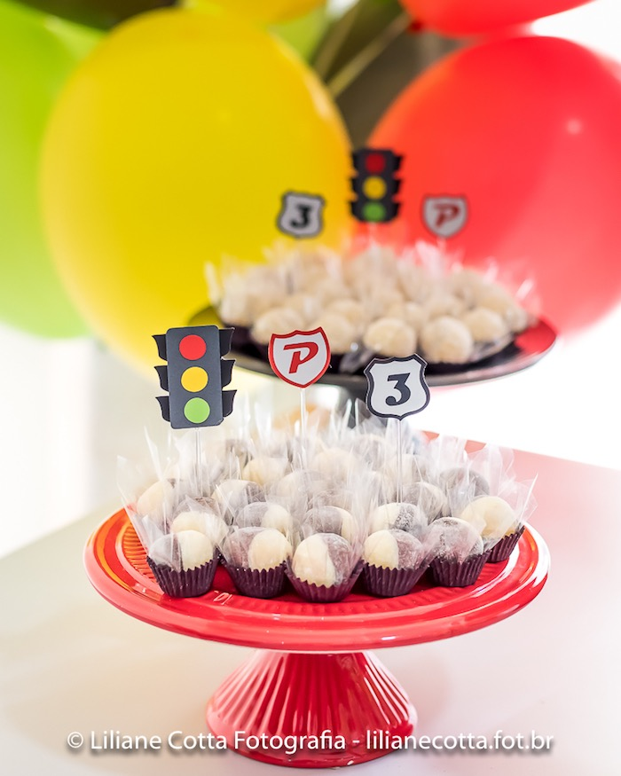 Street Sign Brigadeiros from a Disney's Cars Birthday Party on Kara's Party Ideas | KarasPartyIdeas.com (11)