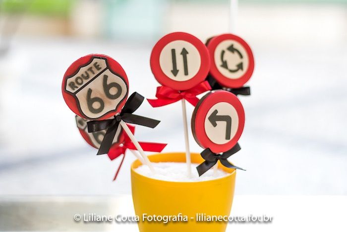 Chocolate Road Sign Lollipops from a Disney's Cars Birthday Party on Kara's Party Ideas | KarasPartyIdeas.com (8)