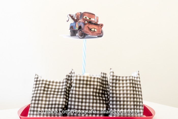 Checkered Snack Sacks from a Disney's Cars Birthday Party on Kara's Party Ideas | KarasPartyIdeas.com (7)