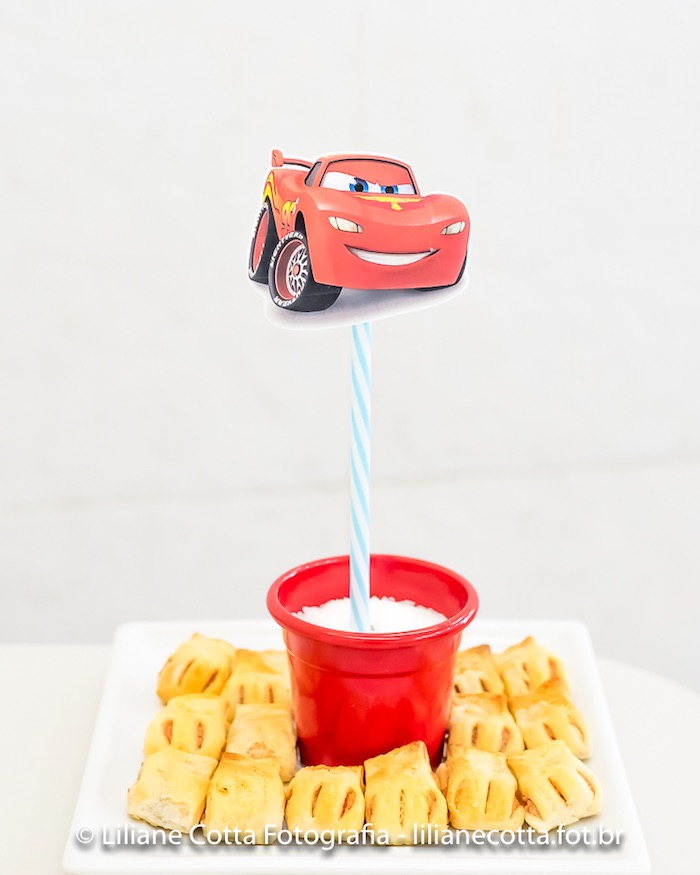 Lightning McQueen Food Plate from a Disney's Cars Birthday Party on Kara's Party Ideas | KarasPartyIdeas.com (6)