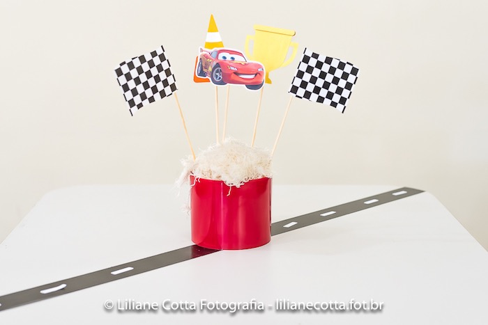 Roadway Party Table from a Disney's Cars Birthday Party on Kara's Party Ideas | KarasPartyIdeas.com (5)