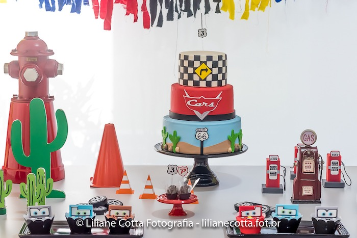 Disney's Cars Dessert Table from a Disney's Cars Birthday Party on Kara's Party Ideas | KarasPartyIdeas.com (27)