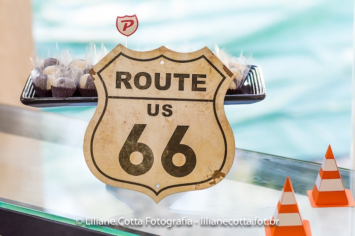 Route 66 Sign from a Disney's Cars Birthday Party on Kara's Party Ideas | KarasPartyIdeas.com (25)