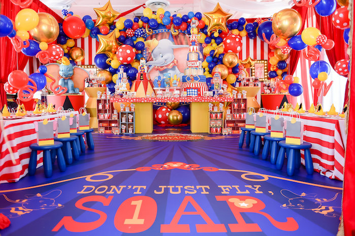 Kara S Party Ideas Dumbo S Circus Birthday Party Kara S