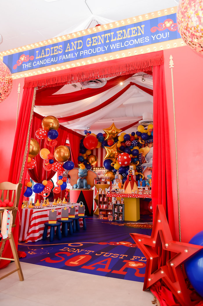 Dumbo's Circus Birthday Party on Kara's Party Ideas | KarasPartyIdeas.com (17)