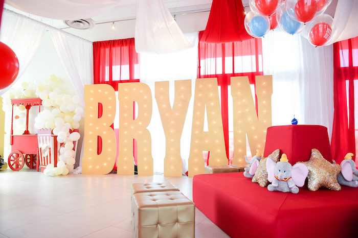 Dumbo's Circus Birthday Party on Kara's Party Ideas | KarasPartyIdeas.com (34)
