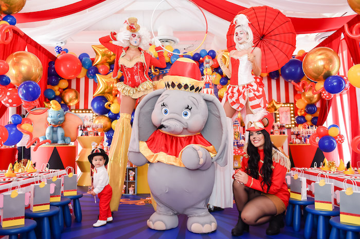 Dumbo's Circus Birthday Party on Kara's Party Ideas | KarasPartyIdeas.com (13)