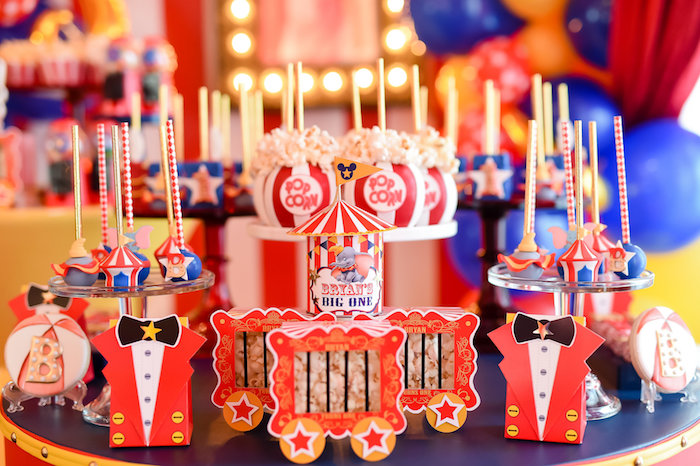 Dumbo's Circus Birthday Party on Kara's Party Ideas | KarasPartyIdeas.com (10)