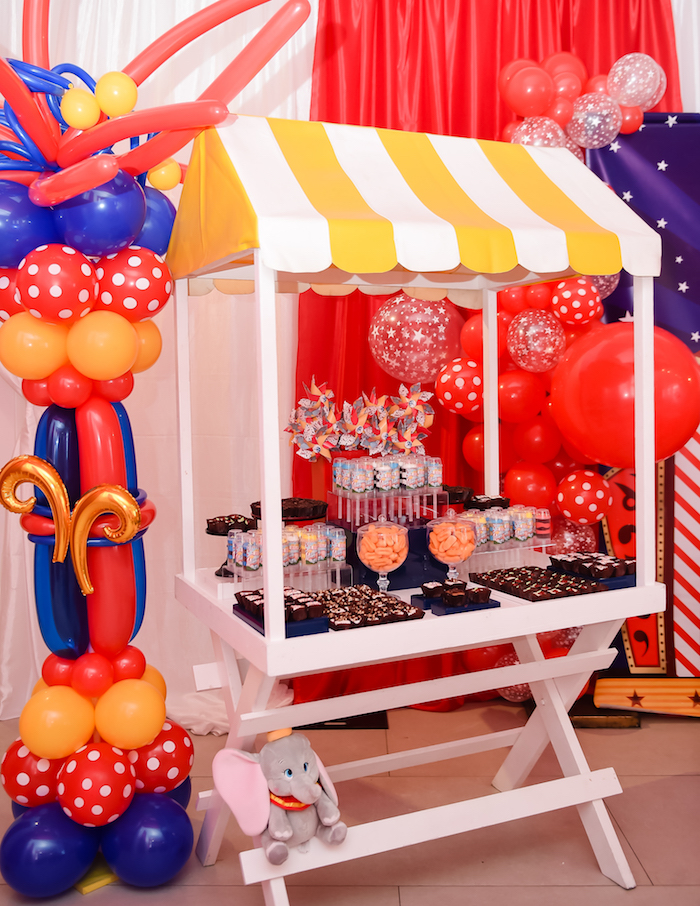 Dumbo's Circus Birthday Party on Kara's Party Ideas | KarasPartyIdeas.com (8)