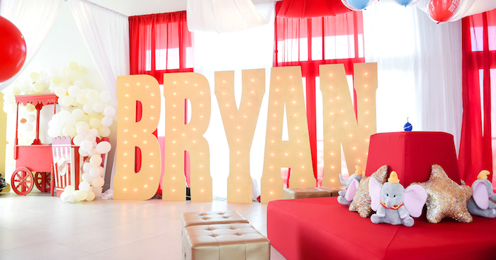 Dumbo's Circus Birthday Party on Kara's Party Ideas | KarasPartyIdeas.com (4)