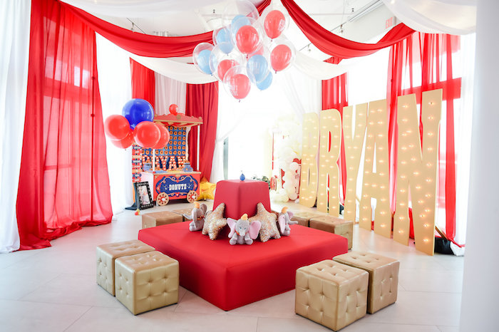 Dumbo's Circus Birthday Party on Kara's Party Ideas | KarasPartyIdeas.com (31)
