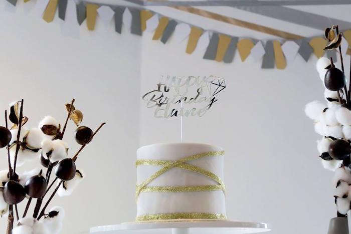 "Cake from an Elegant ""You're a Gem"" Birthday Party on Kara's Party Ideas | KarasPartyIdeas.com (4)"