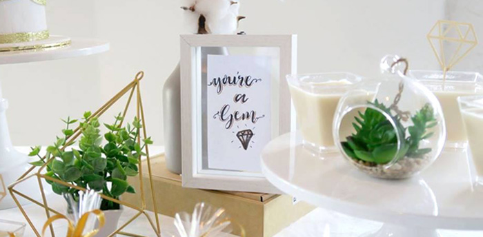 "Elegant ""You're a Gem"" Birthday Party on Kara's Party Ideas 