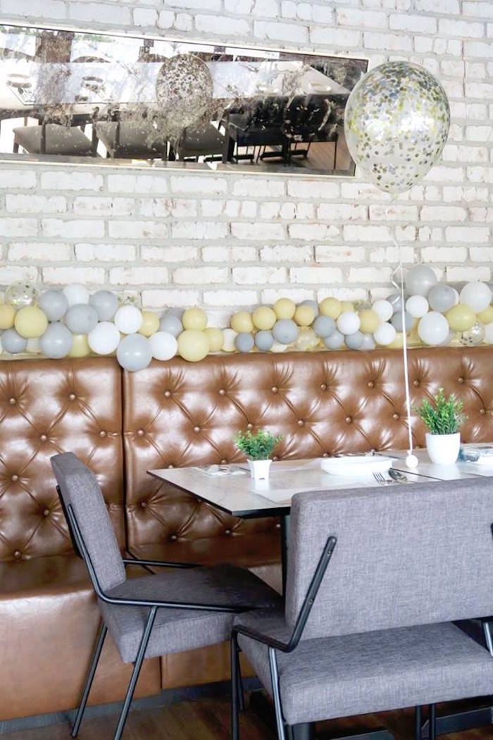 """Modern Booth Guest Table from an Elegant """"You're a Gem"""" Birthday Party on Kara's Party Ideas 