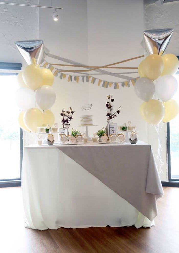 "Modern Dessert Table from an Elegant ""You're a Gem"" Birthday Party on Kara's Party Ideas | KarasPartyIdeas.com (12)"