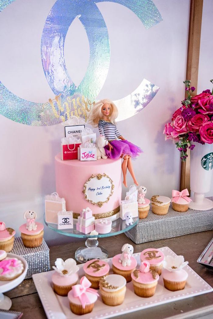 Cake Table from a Fashionista THREEnager Birthday Party on Kara's Party Ideas | KarasPartyIdeas.com (9)