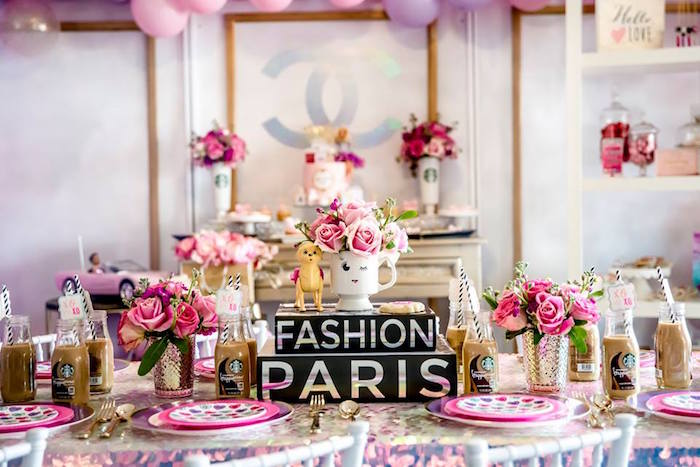 Fashion Themed Party Table from a Fashionista THREEnager Birthday Party on Kara's Party Ideas | KarasPartyIdeas.com (6)