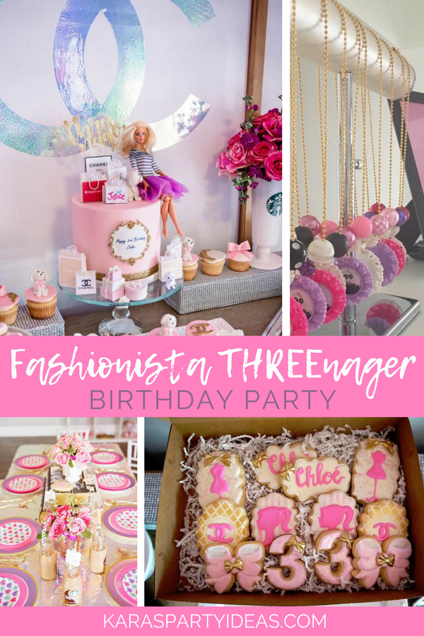 Fashionista THREEnager Birthday Party Via KarasPartyIdeas