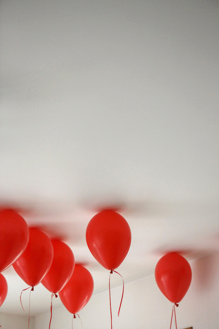 Red Balloons from a Fireman Birthday Party on Kara's Party Ideas | KarasPartyIdeas.com (2)