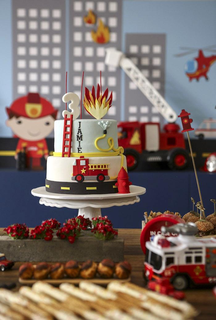 Marvelous Karas Party Ideas Fireman Birthday Party Karas Party Ideas Funny Birthday Cards Online Alyptdamsfinfo