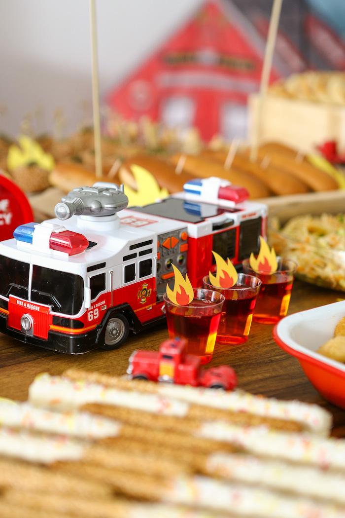 Firetruck Prop from a Fireman Birthday Party on Kara's Party Ideas | KarasPartyIdeas.com (12)
