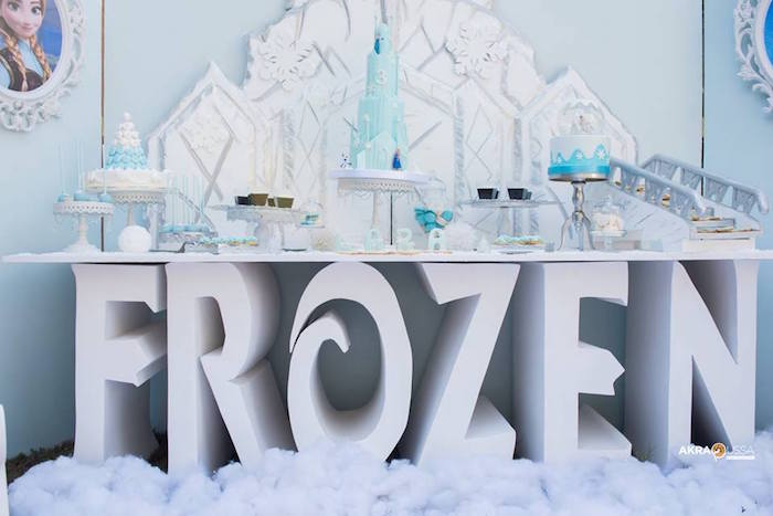 Frozen Party Dessert Table from a Frozen Birthday Party on Kara's Party Ideas | KarasPartyIdeas.com (7)