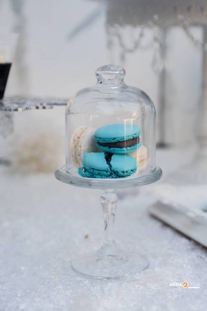 Macarons from a Frozen Birthday Party on Kara's Party Ideas | KarasPartyIdeas.com (6)