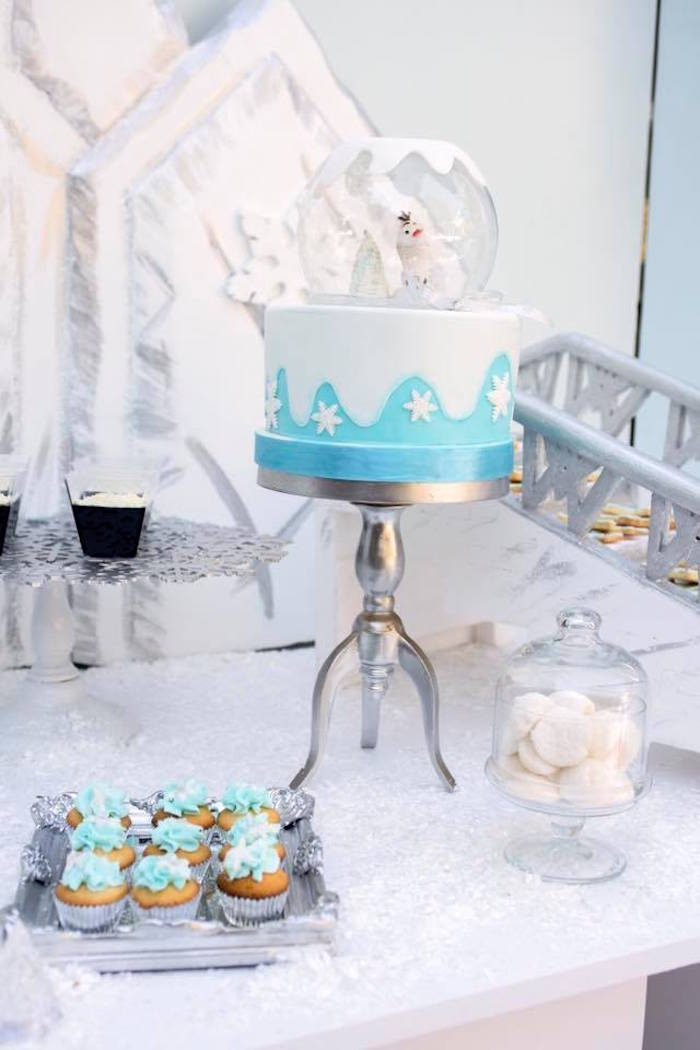 Cake from a Frozen Birthday Party on Kara's Party Ideas | KarasPartyIdeas.com (15)