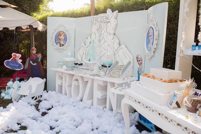 Frozen Dessert Table from a Frozen Birthday Party on Kara's Party Ideas | KarasPartyIdeas.com (13)