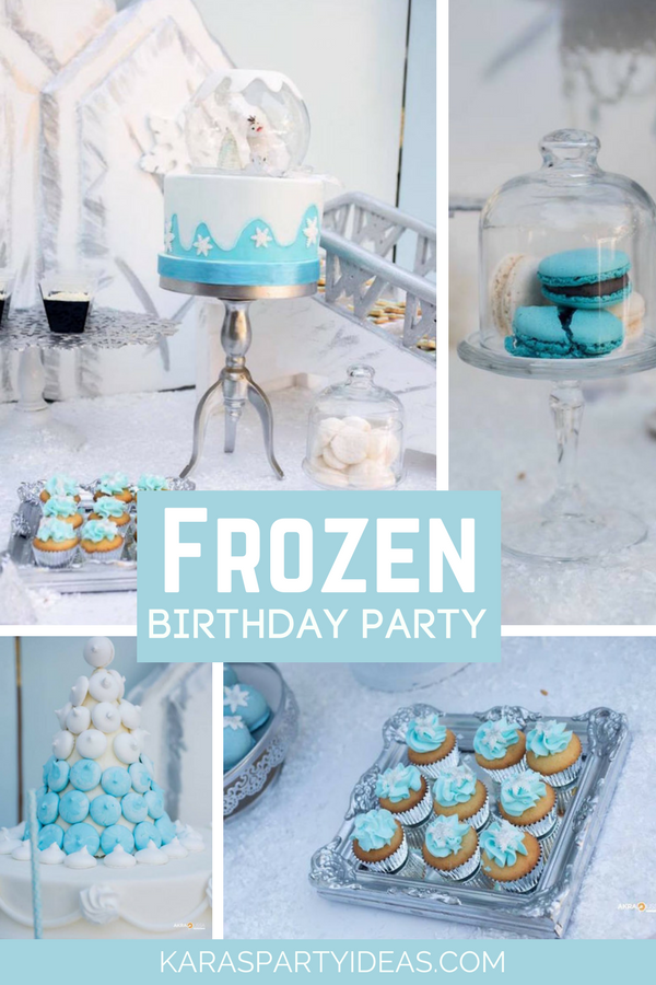 Frozen Birthday Party via KarasPartyIdeas - KarasPartyIdeas.com