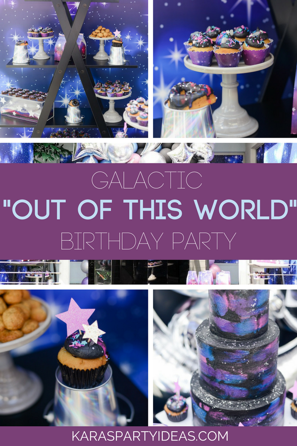 "Galactic ""Out of this World"" Birthday Party via KarasPartyIdeas - KarasPartyIdeas.com"