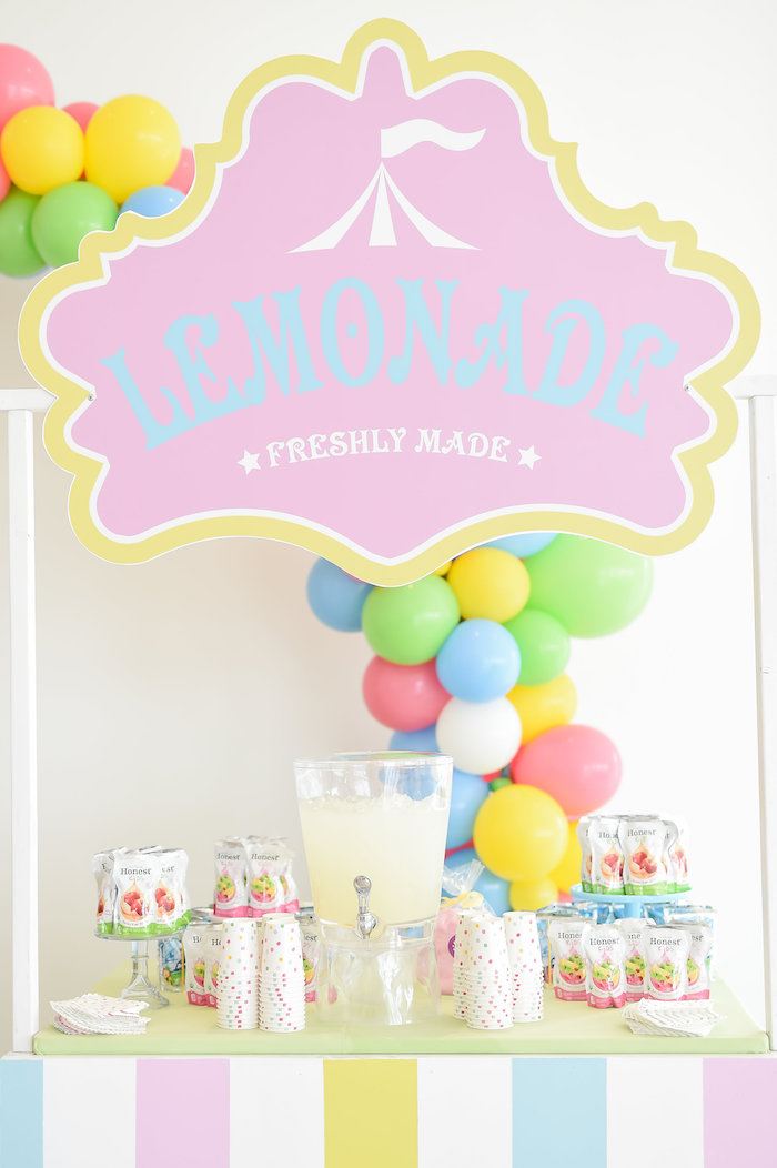 Lemonade Stand from a Girly Pastel Carnival Birthday Party on Kara's Party Ideas   KarasPartyIdeas.com (30)