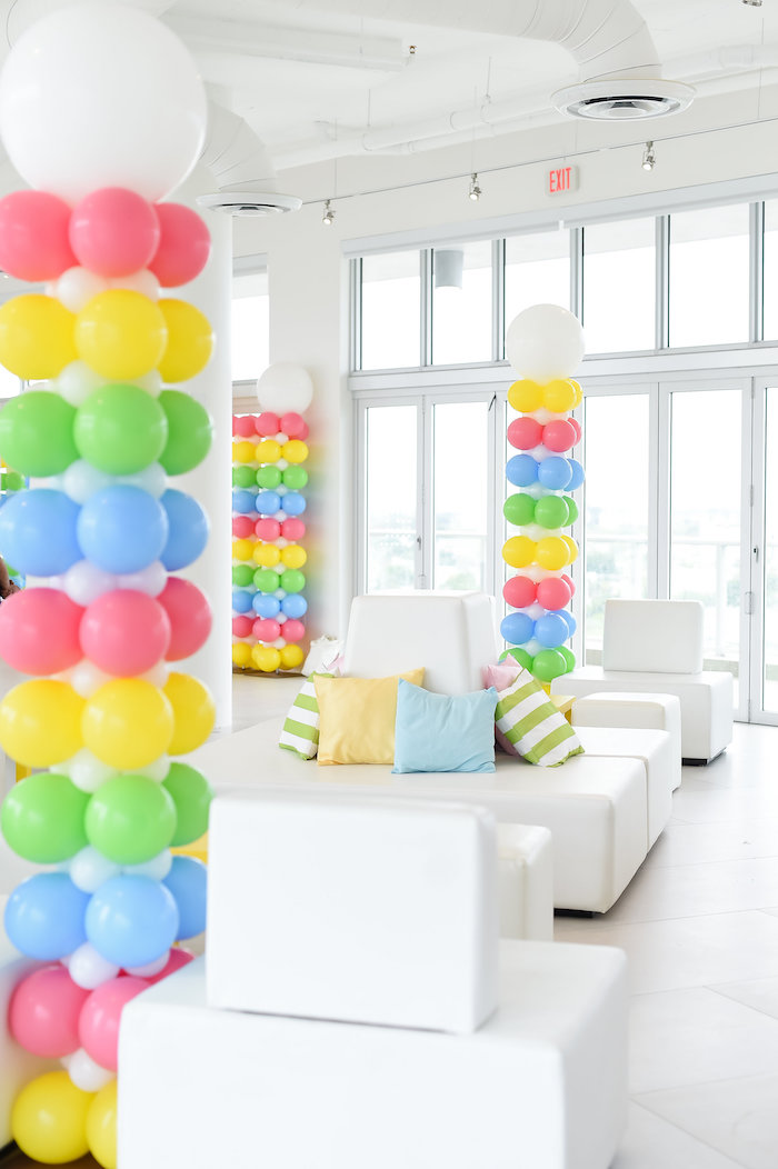 Balloon Lounge from a Girly Pastel Carnival Birthday Party on Kara's Party Ideas   KarasPartyIdeas.com (29)